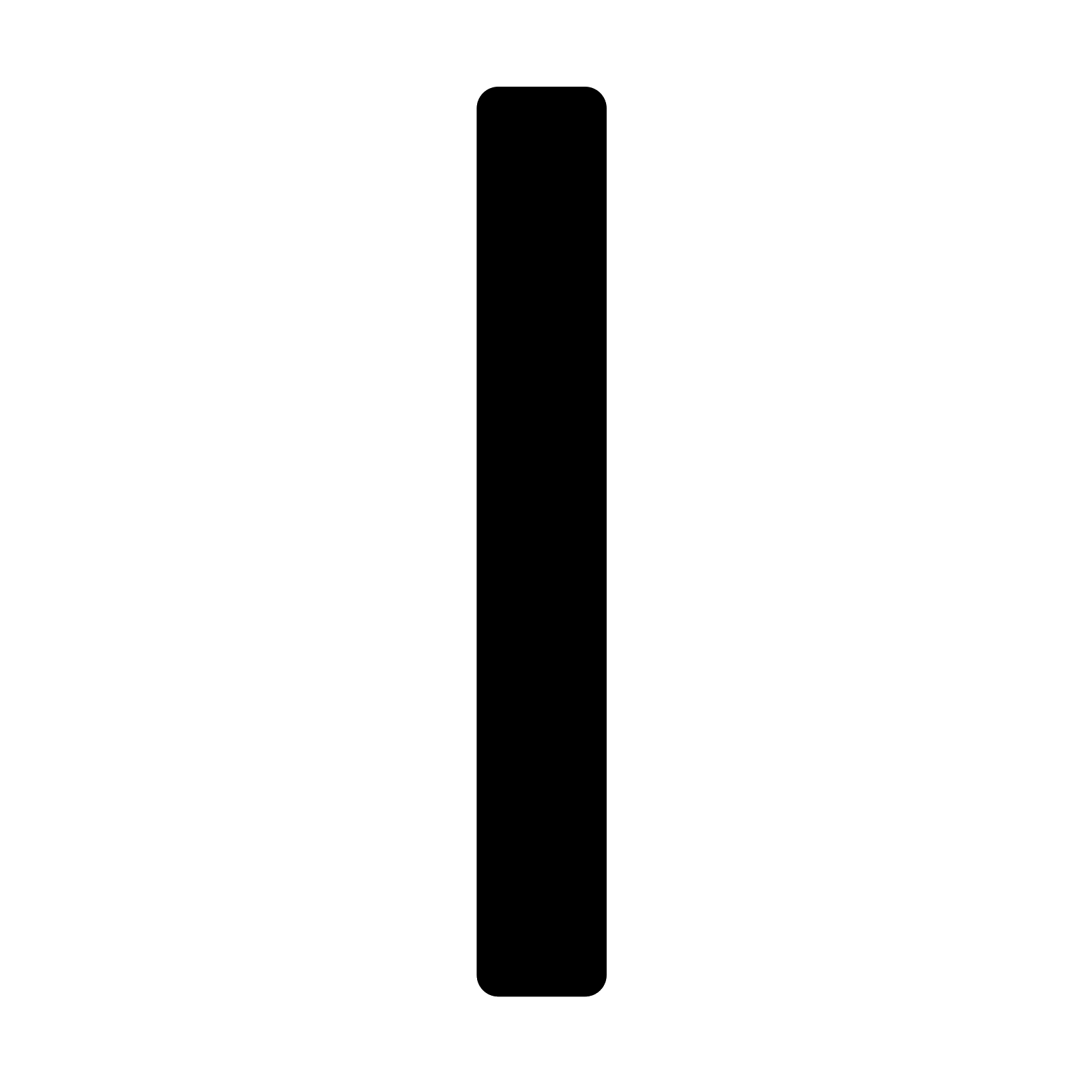 Vertical black line png. Thick filled icon