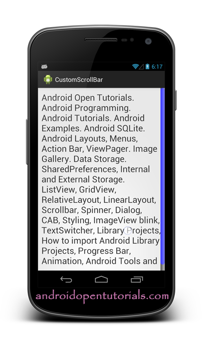 Vertical scroll bar png. Android scrollbar styling open