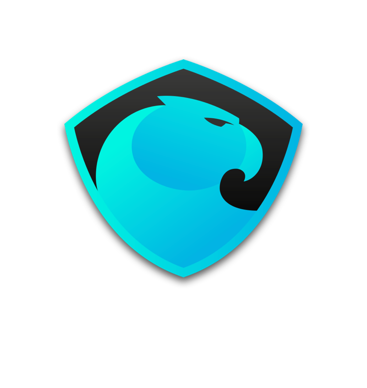 Vertical vector background. Logo aragon wiki dark