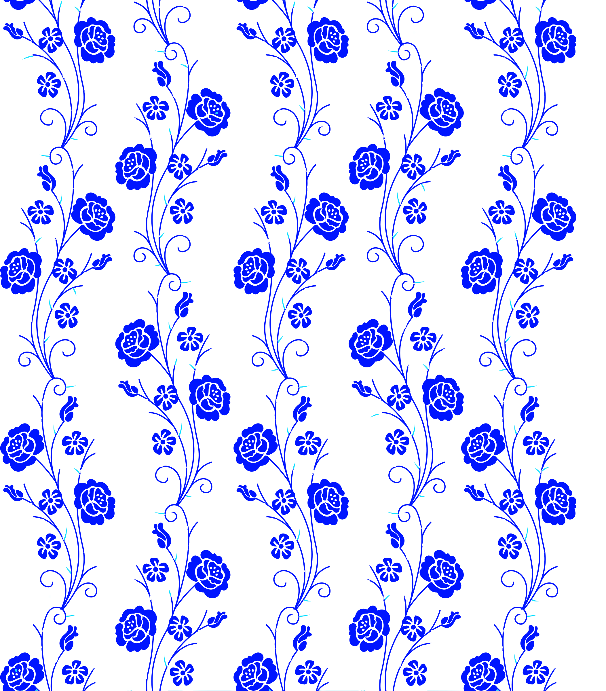Vertical vector background. Floral pattern without icons