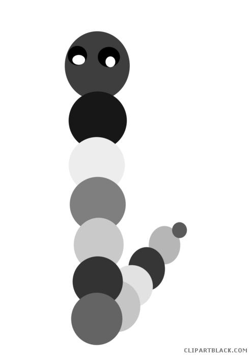 Very hungry caterpillar png black and white. Clipart clipartblack com animal