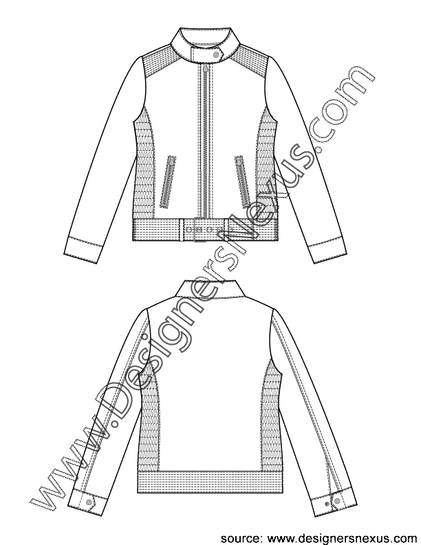 Drawing jackets fashion. Vest sketch at paintingvalley