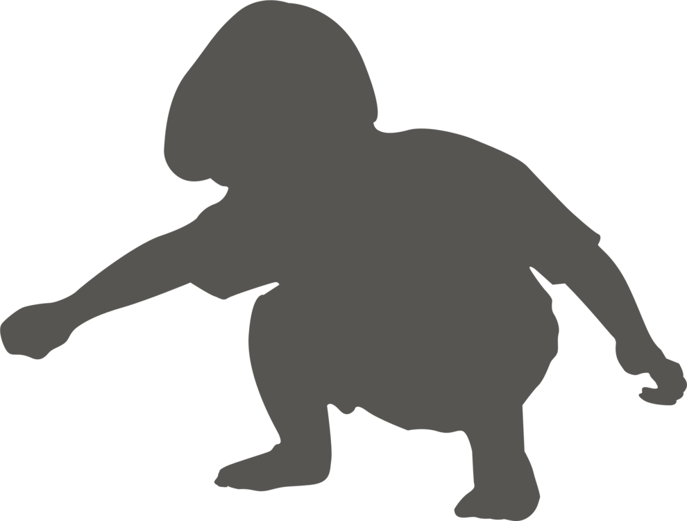 Crouching drawing cat. Animal silhouettes child squat