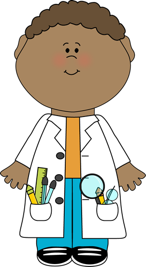 Vector laboratory art. Science clip images child