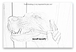 Vet drawing coloring page. Goodison veterinary center p