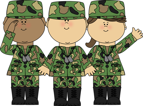 Veterans clipart solders. Group of soldiers clip