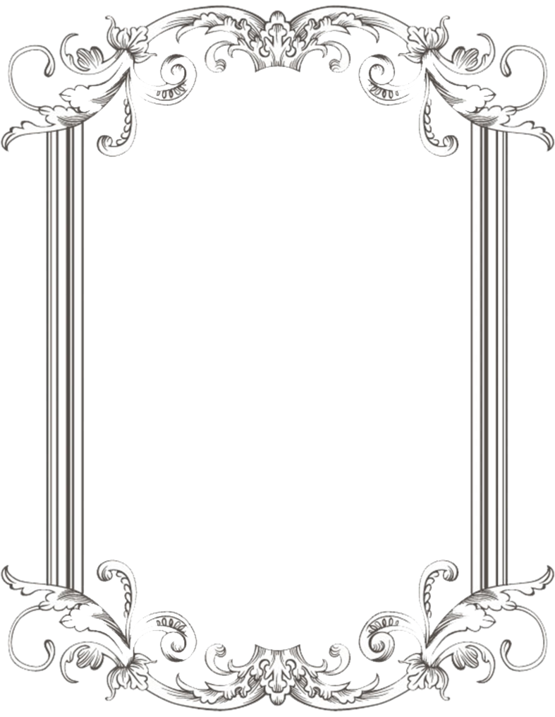 Cute doodle frame png. Victorian border images in