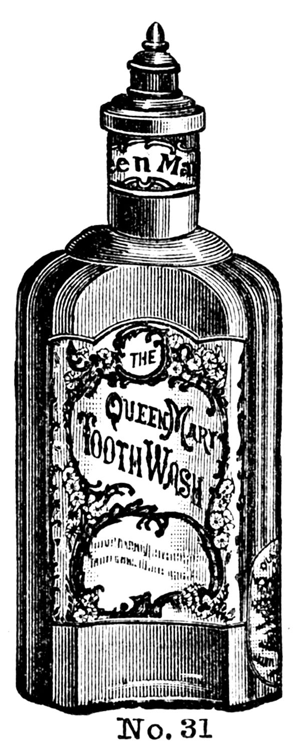 Victorian clipart bottle. Vintage clip art fancy