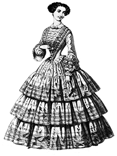 Clothing clip fashion. Art of victorian