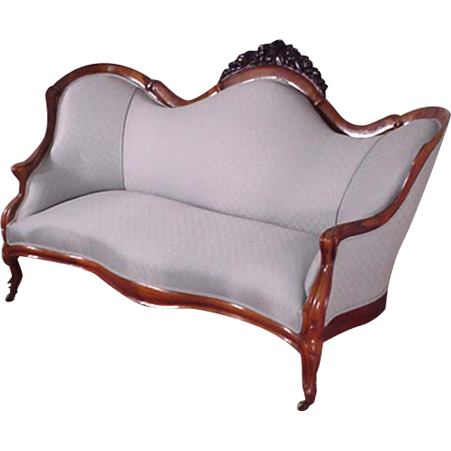 Transparent couch victorian. Belter sofa rosewood antiques