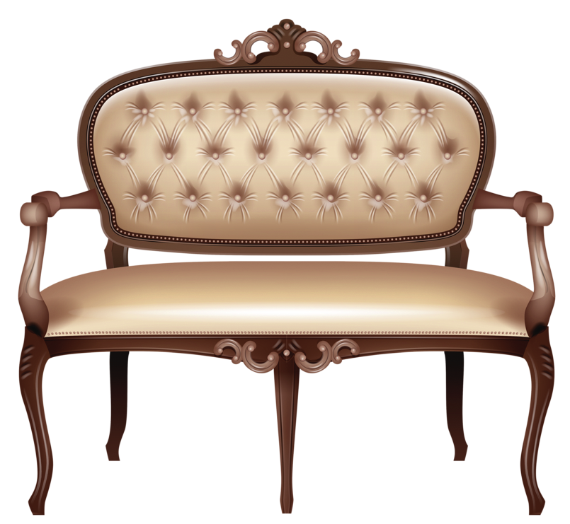 Transparent couch victorian. Loveseat png clipart picture