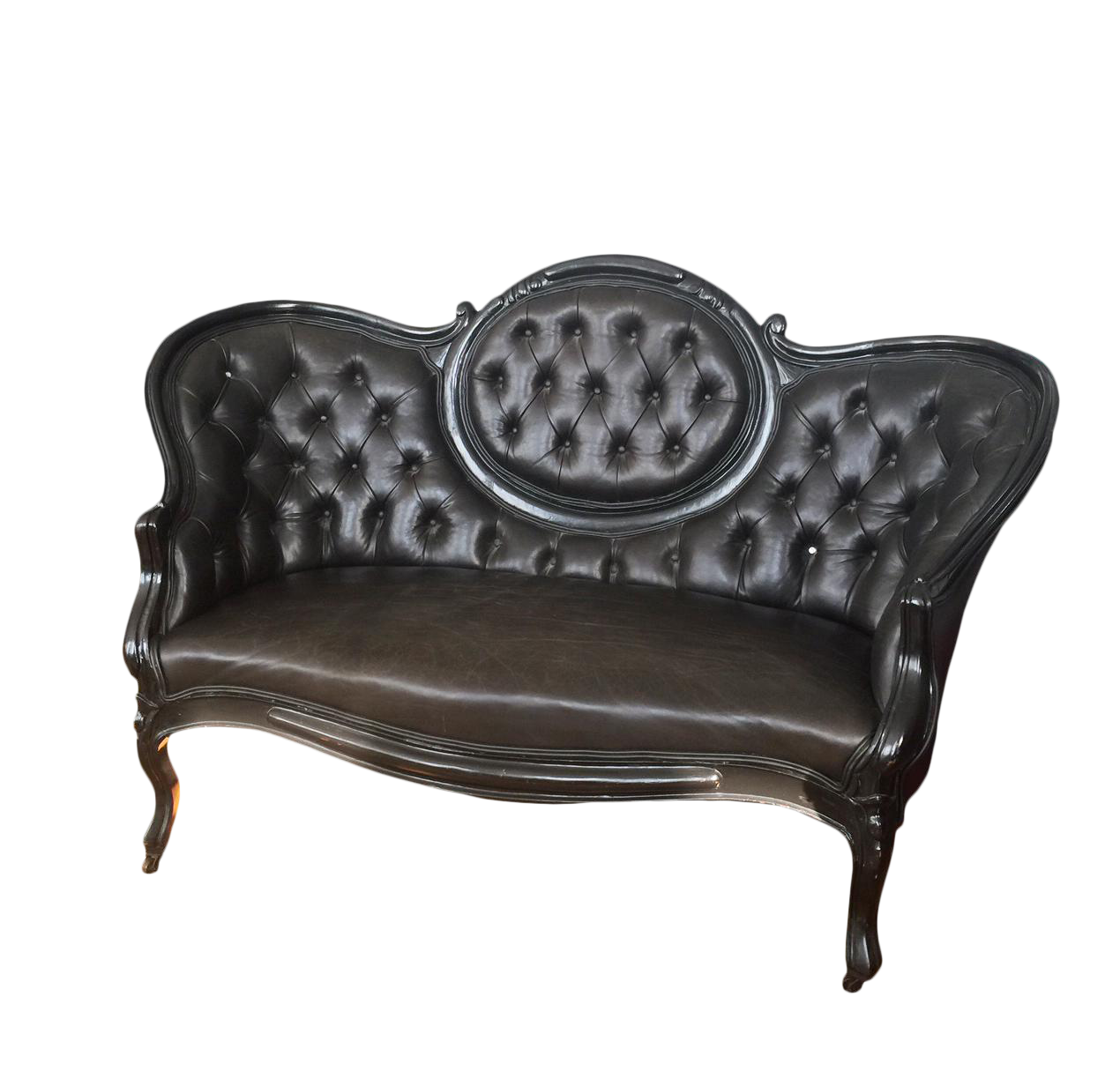 Victorian couch png. Settee love seat in