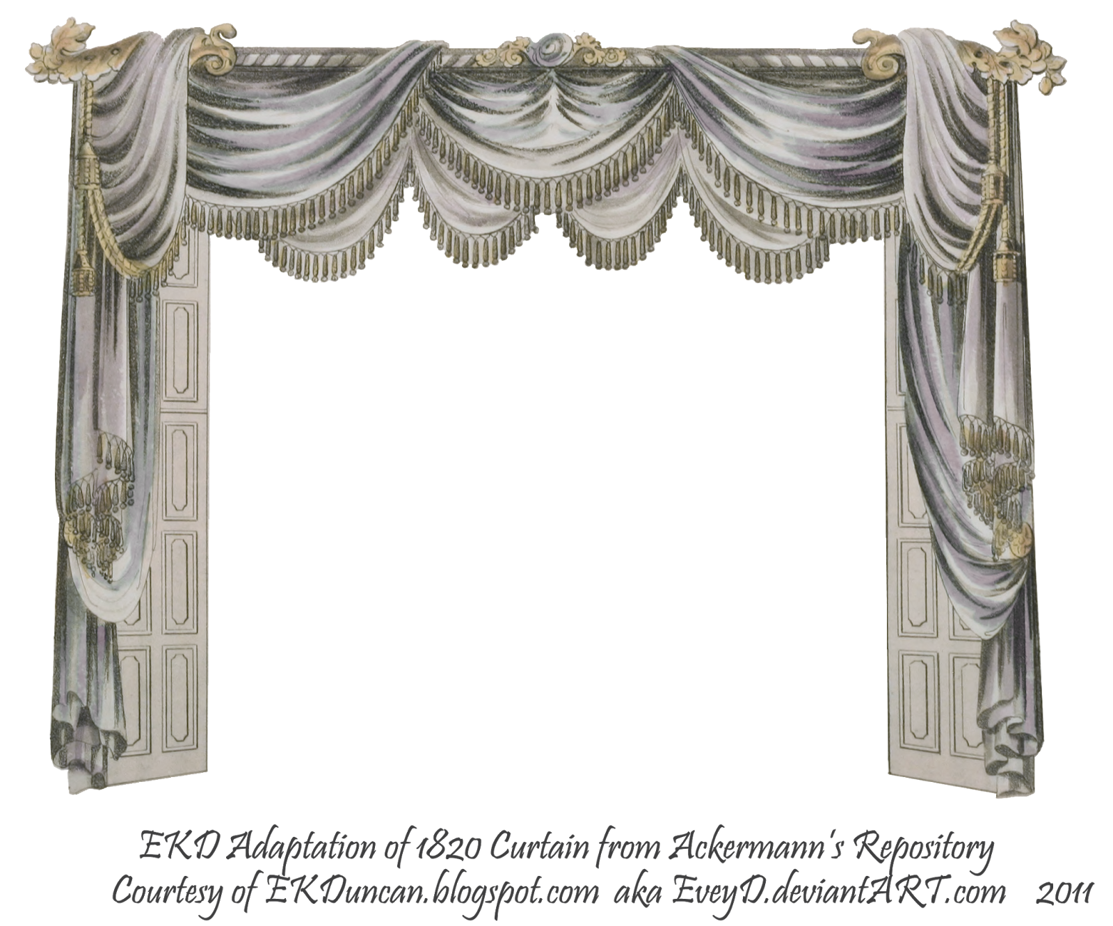 victorian curtains png