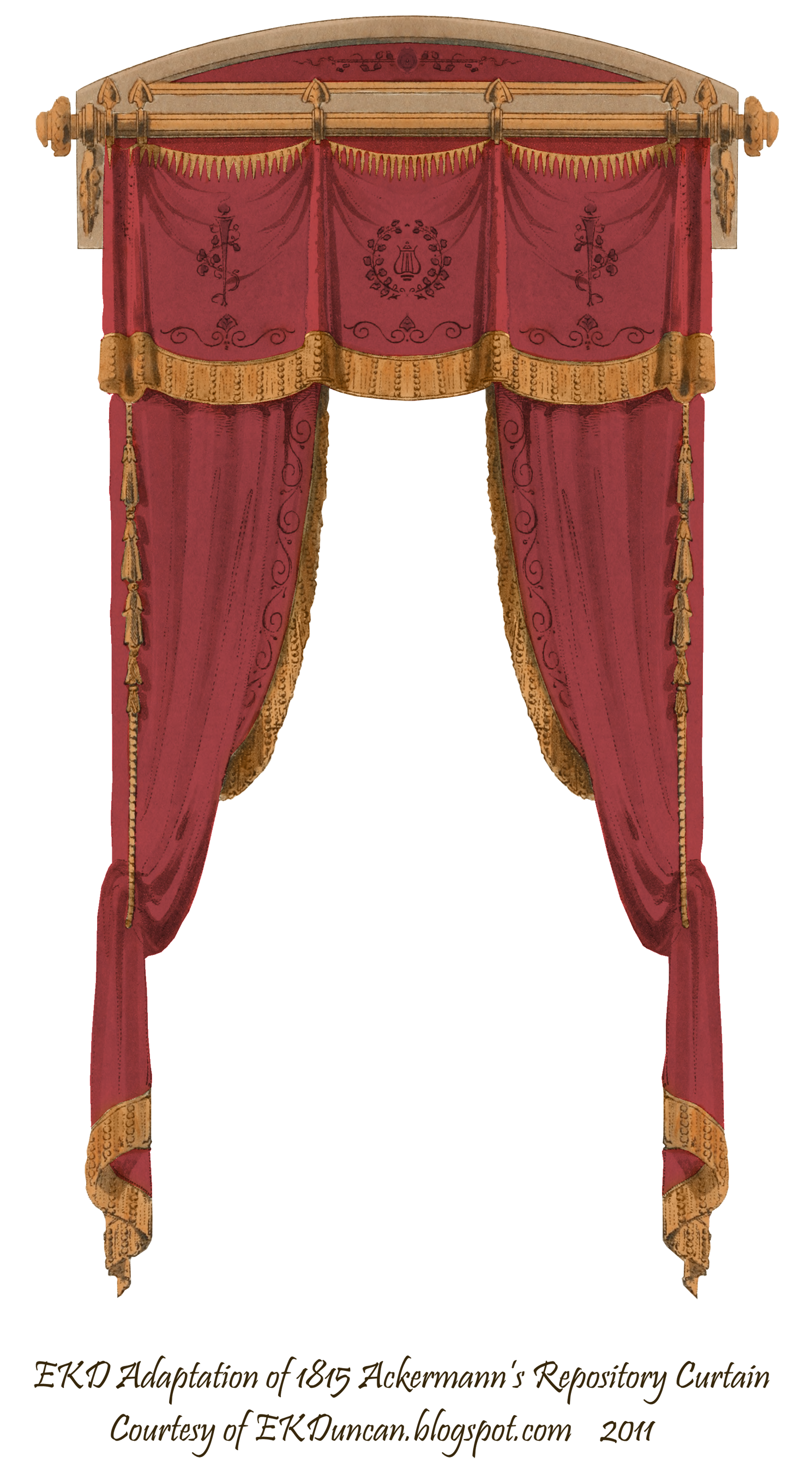 Victorian curtains png. French curtain wine