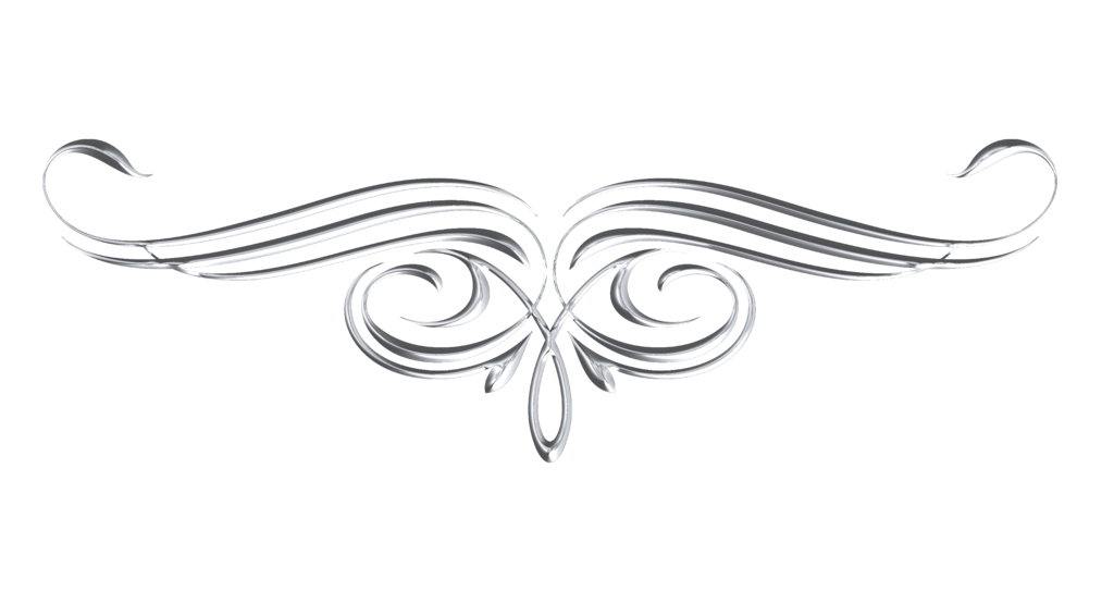 Victorian design png. Scrollwork silver by lady