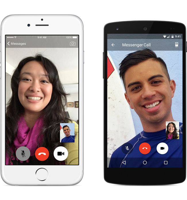 Video call snapshot 3 png. Introducing calling in messenger