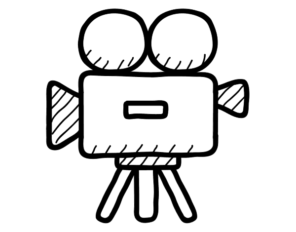 Video drawing. Camera objects printable coloring