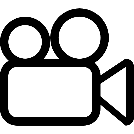 Video images png. Camera outline free cinema