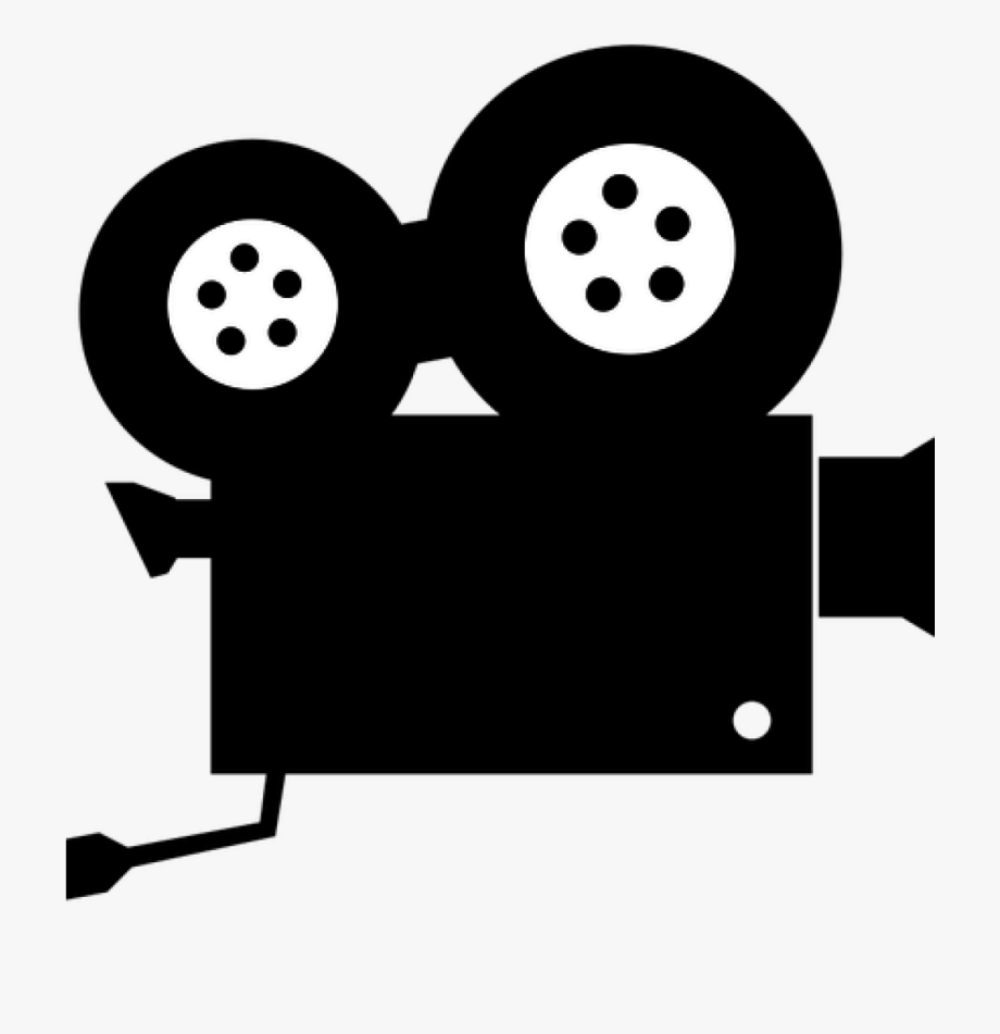 Video cartoon. Camera images clip art