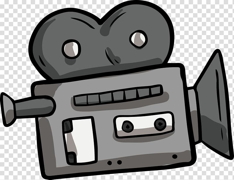 Video cartoon. Gray camera graphic film