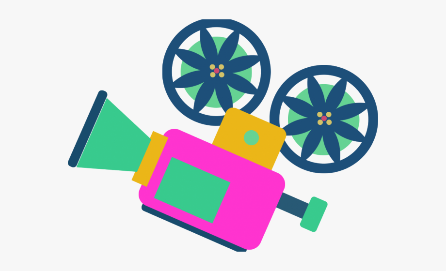 Video cartoon. Camera clipart cute