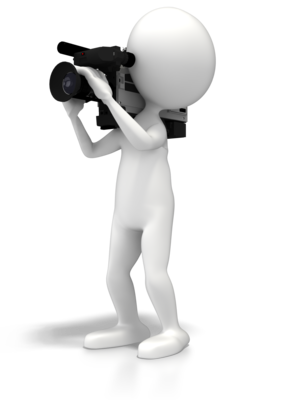 Video clipart electronic media. Think is hard and
