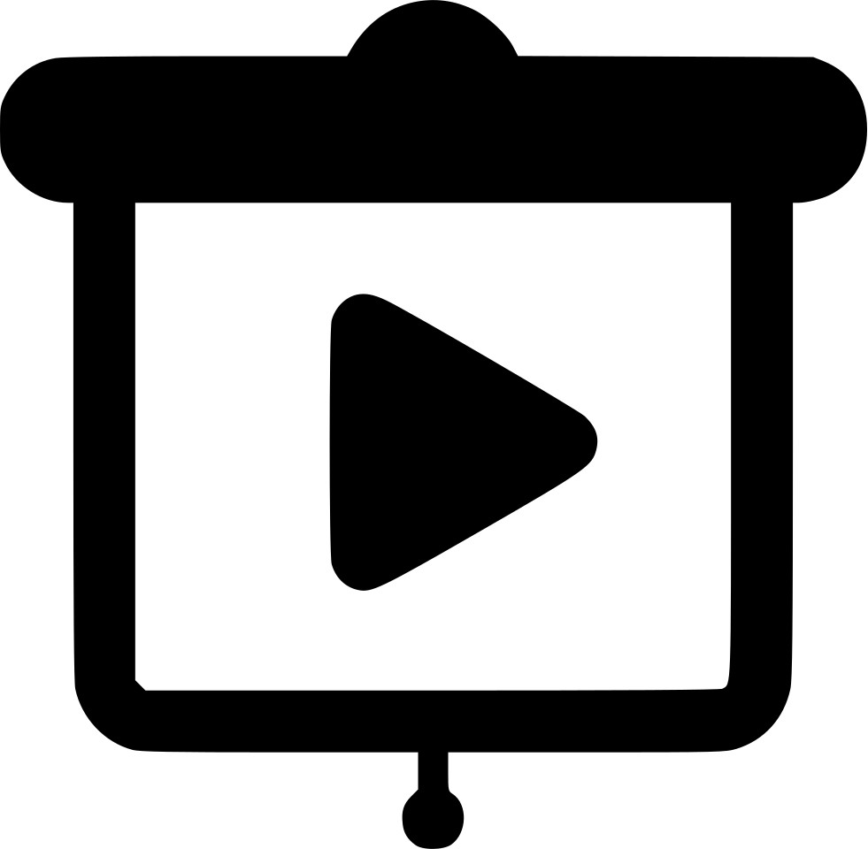 Video clipart video presentation. Svg png icon free
