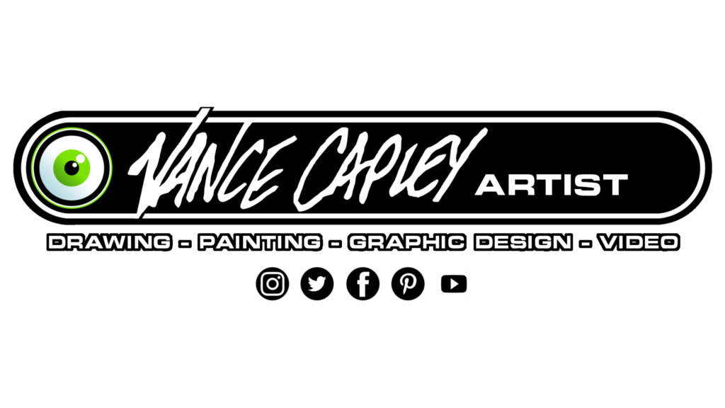 Videos vance capley art. Video drawing svg black and white