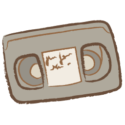Video drawing. Tape icon png clipart