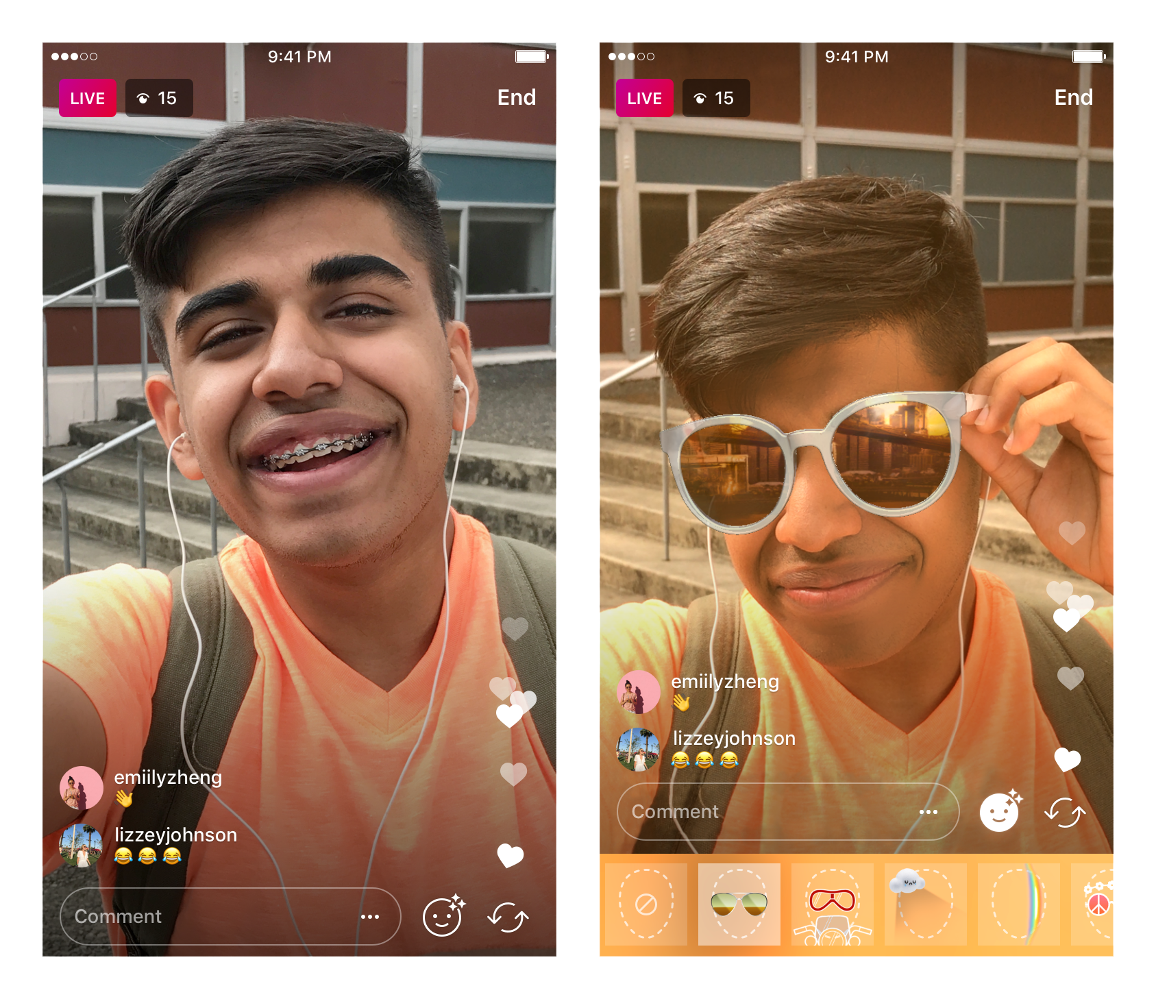 Transparent live instagram. Introducing face filters in