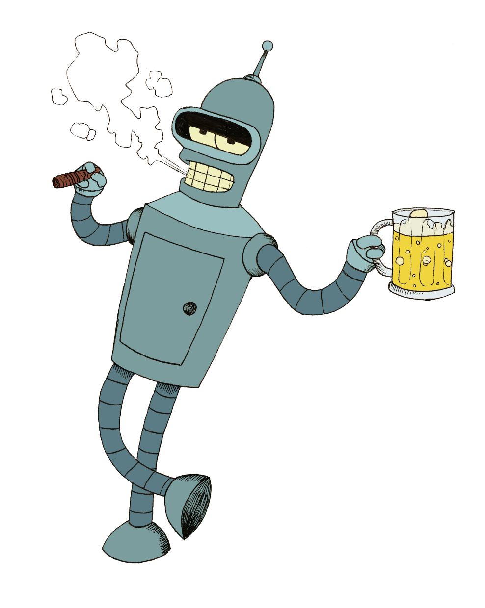 Video futurama. Bender png