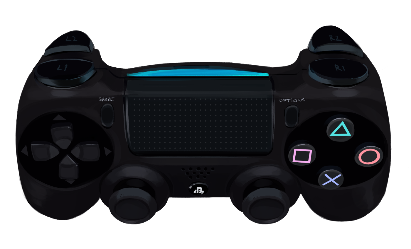 Transparent ps4 clear. Ps playstation controller png