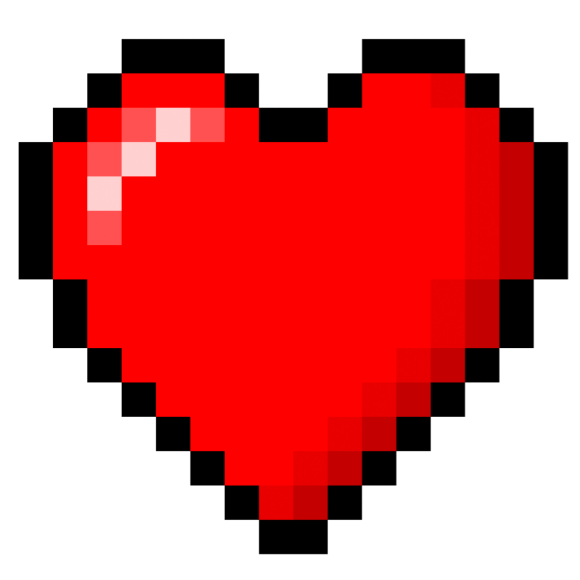 pixelated heart png