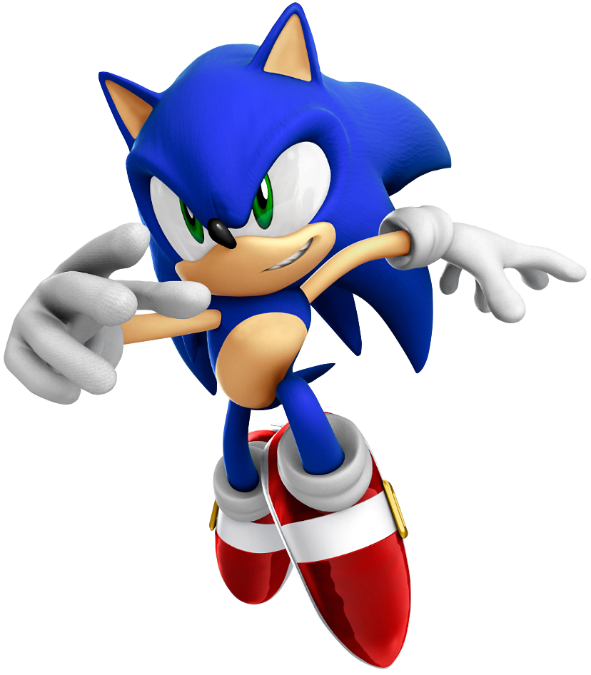 Video games characters png. Sonic some of the