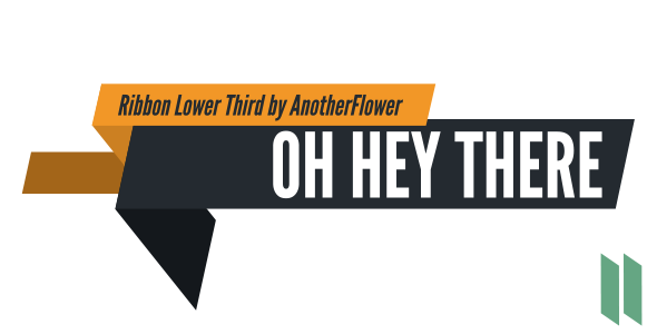 Lower third news png. Ribbon thirds by anotherflower