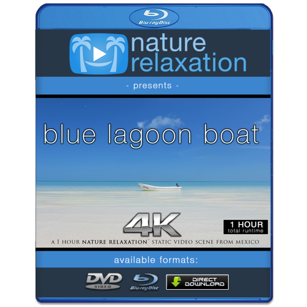 Video static png. Blue lagoon boat beach