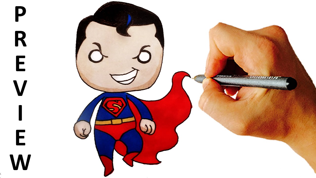 Video superman. How to draw chibi
