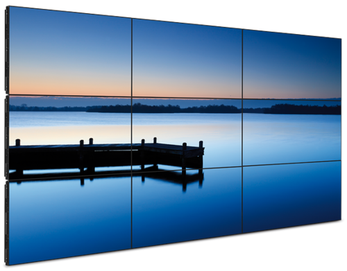 Video wall png. Digital signage view specifications