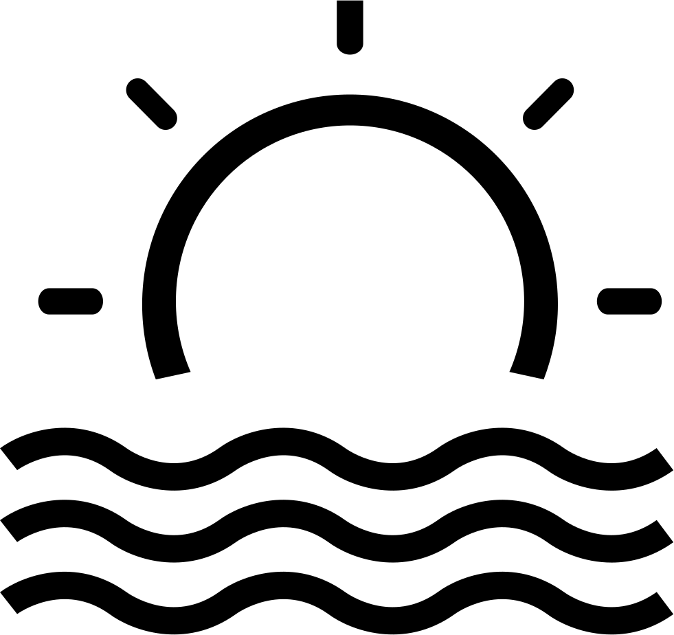 Viewing svg icon. Sea view beach area