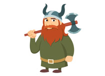 Warrior clipart viking man. Free vikings clip art