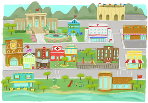 Village clipart twon. Town free images at