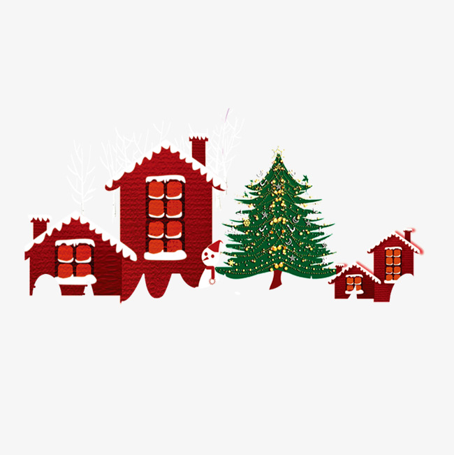Village clipart village family. Snow cartoon house png