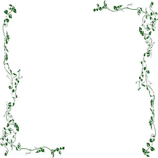Ivy vine clip art. Greenery vector border svg library library