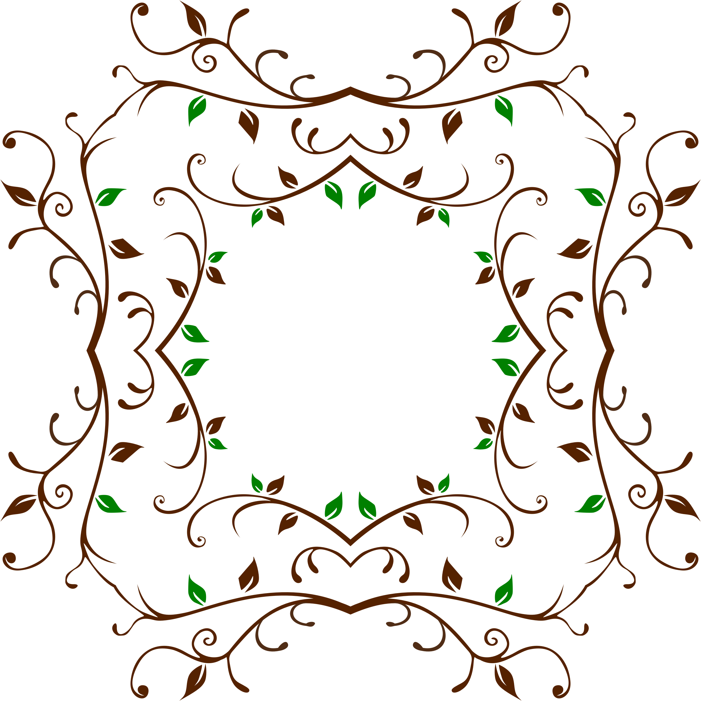 Vine frame png. Leafy icons free and
