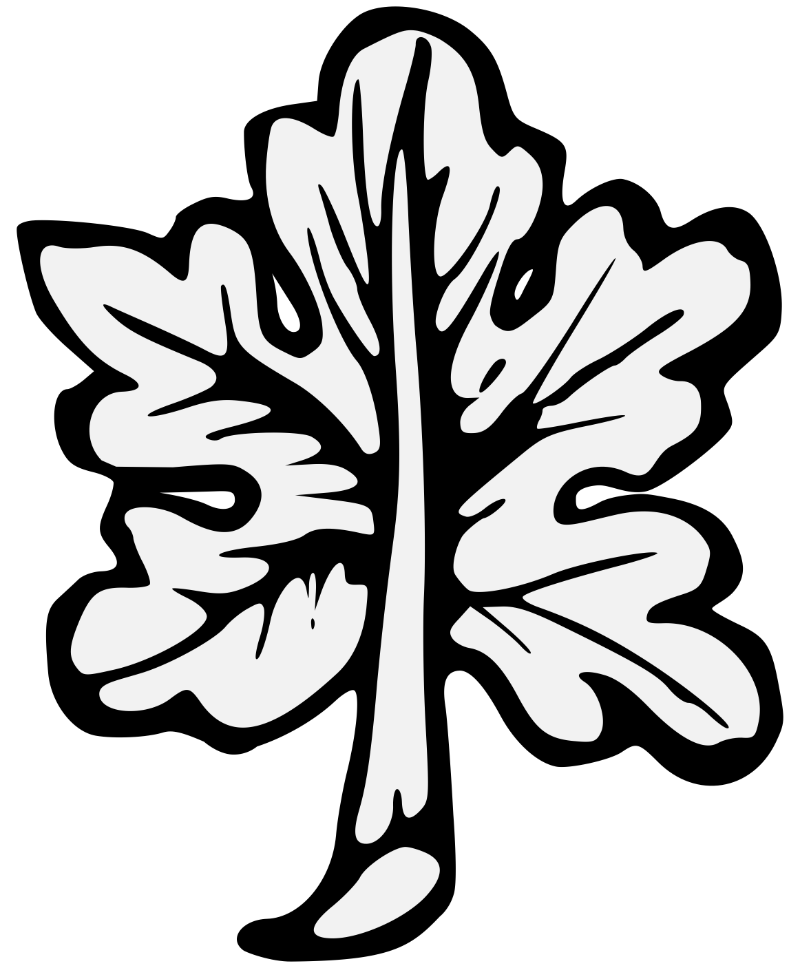 Vines svg traceable. Leaf heraldic art details