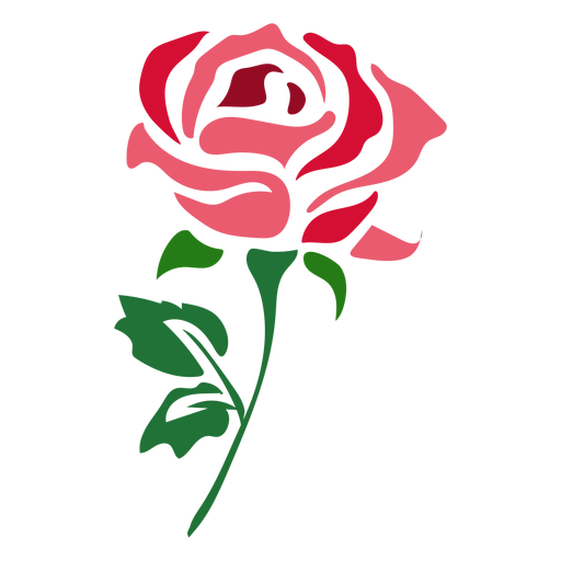 Vines svg rose. Beautiful red icon flower