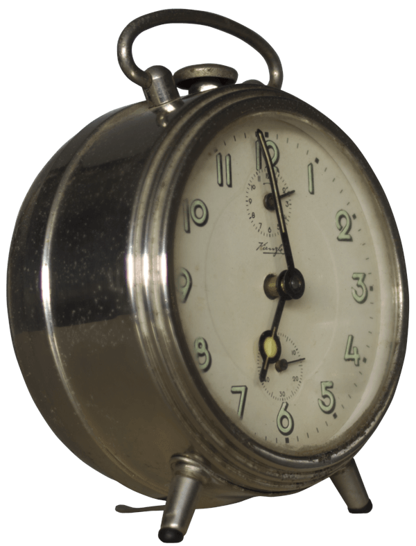Silver transparent stickpng download. Vintage alarm clock png clip library library