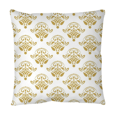Vintage background png. Seamless classic golden pattern