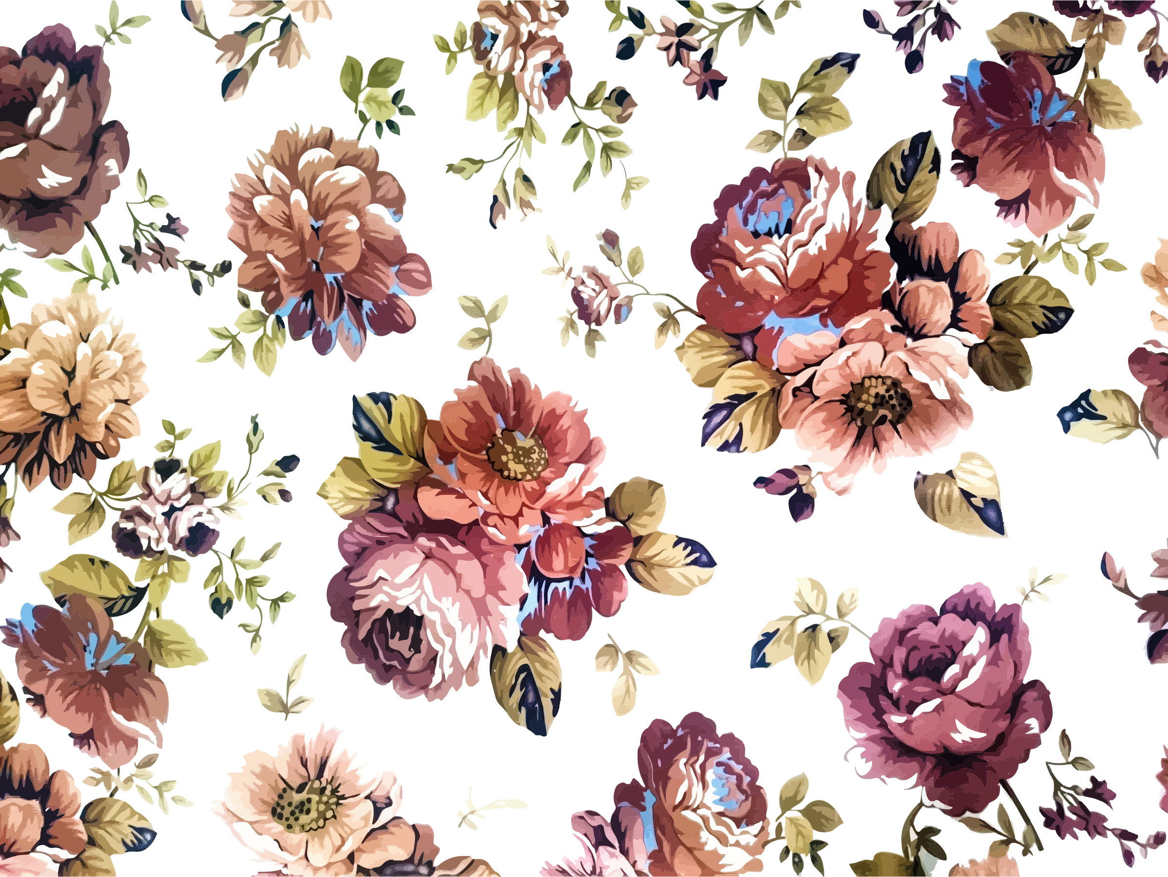 Png Hibiscus Flowers Patterns Picture 634719 Tropical Floral