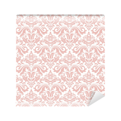 Vintage background png. Seamless classic pink pattern